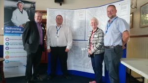 Cllrs Clarke and Griffin with Mark Newman, Southern Water Project Manager and Andy Bird, Clancy Docwra Project Manager