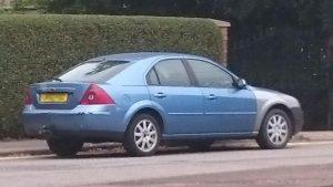 Abandoned car on Horsted Way