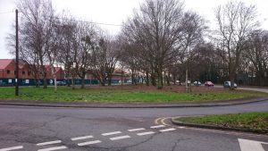 Horsted Gyratory looking south from City Way