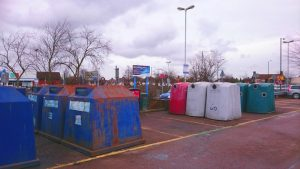 Recycling Bins at Horsted Park