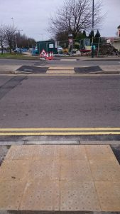 Improvement works at Shirley Avenue roundabout