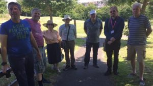 Cllrs Turpin and Clarke with interested group representatives at The Millennium Green, Luton