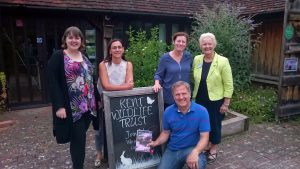 Rupert and Sylvia with Kent Wildlife Trust team at Tyland Barn