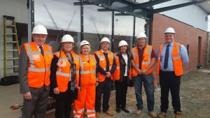 Cllrs Mr and Mrs Iles and Cllr Chitty with Nina of Network Rail and staff of WPB Contractors
